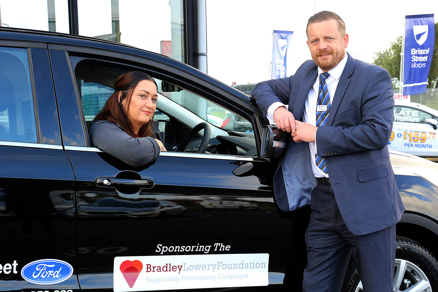 Hartlepool Ford helps the Bradley Lowery Foundation