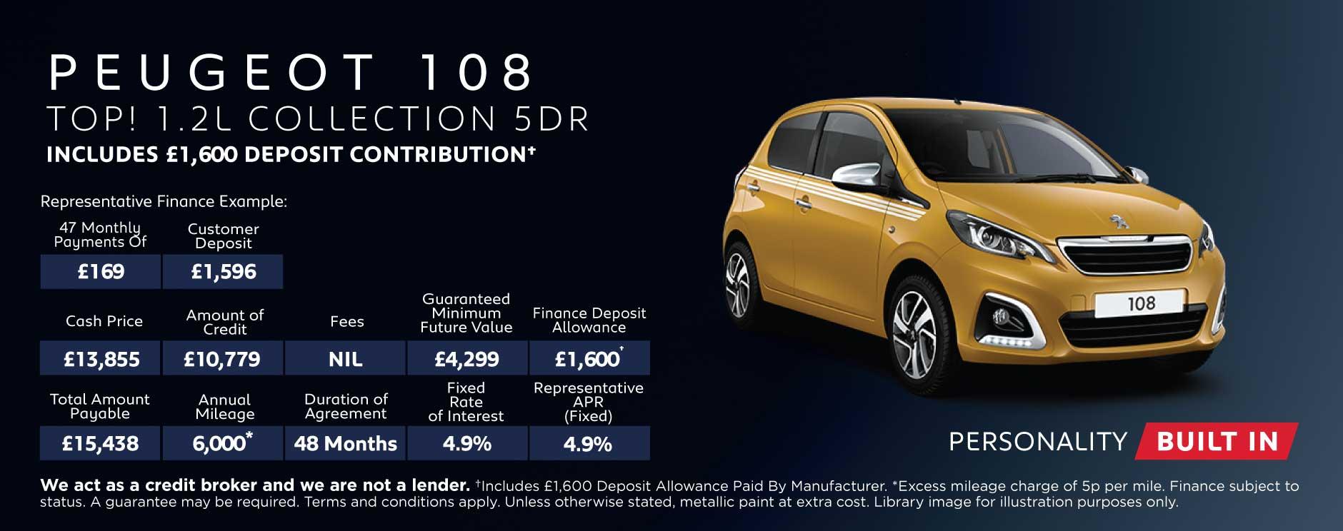 Peugeot 108 Deals New Peugeot 108 Cars For Sale