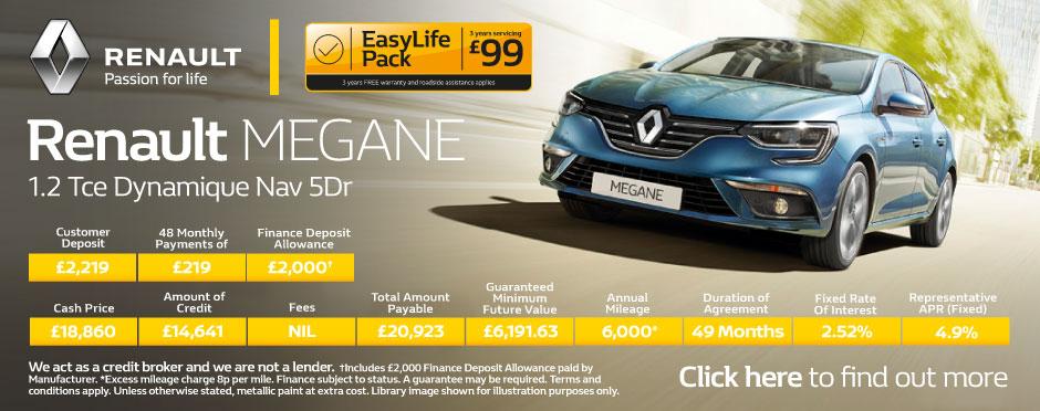 Renault Megane Deals New Renault Megane For Sale