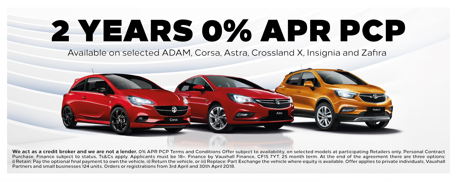 Vauxhall 2 Years 0% Finance Banner