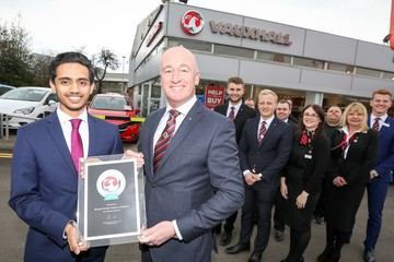 Bristol Street Motors Hexham Vauxhall wins national award