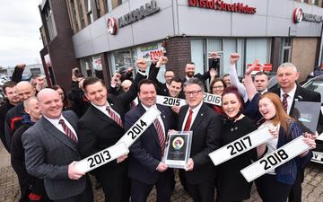Bristol Street Motors Lichfield Vauxhall wins national award