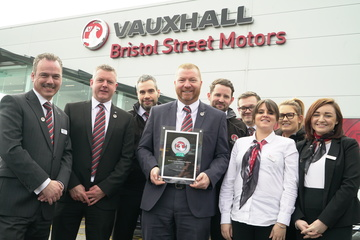 Bristol Street Motors Newcastle Vauxhall wins service award