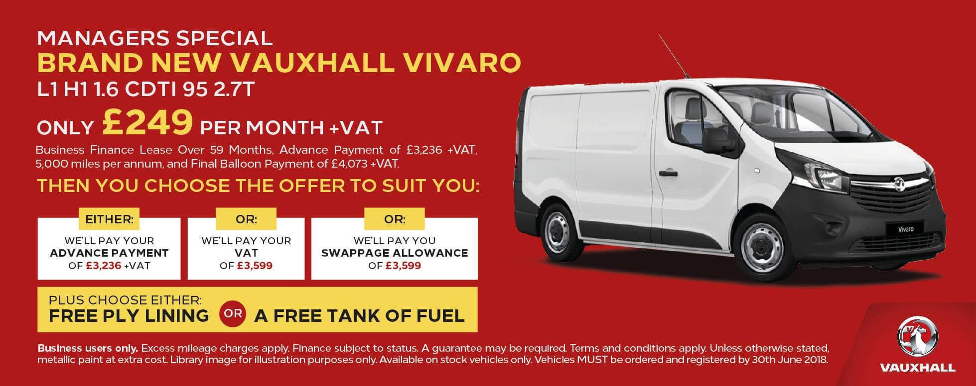 Manager Specials Vauxhall Vivaro BB