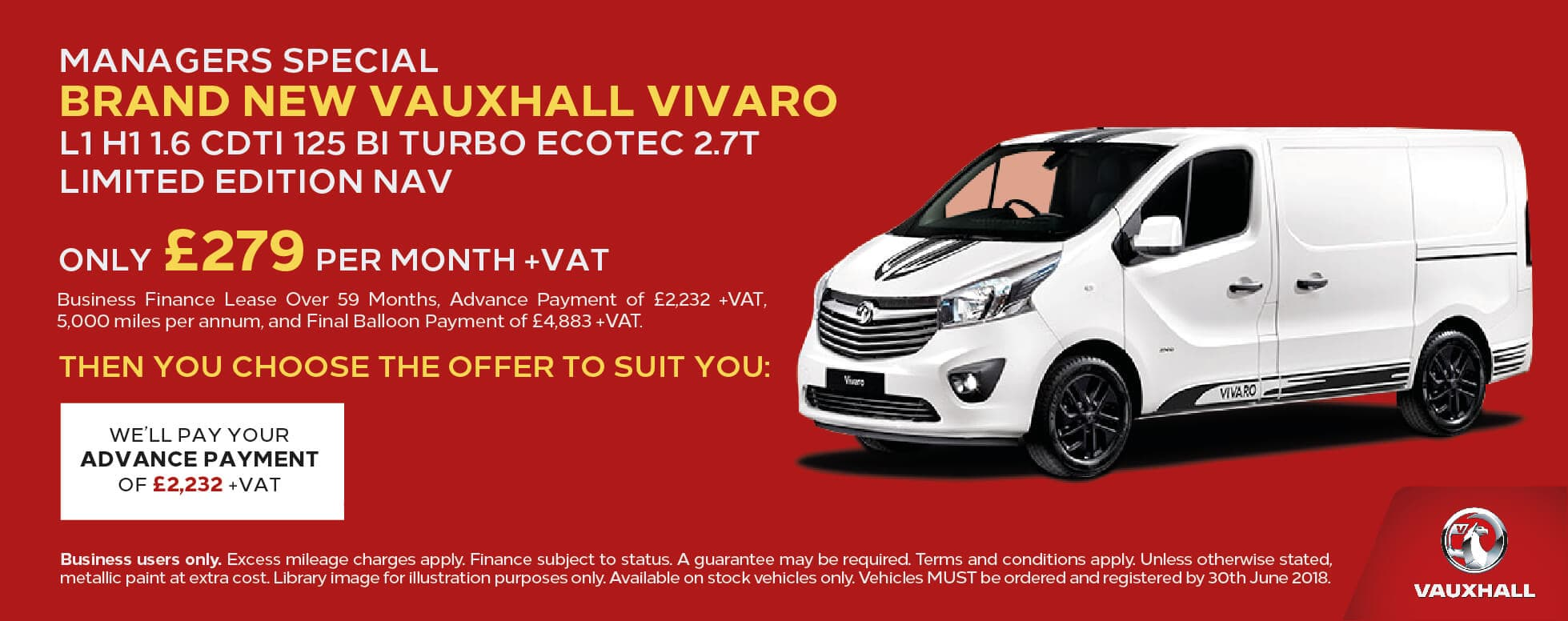Manager Specials Vauxhall Vivaro LTD BB