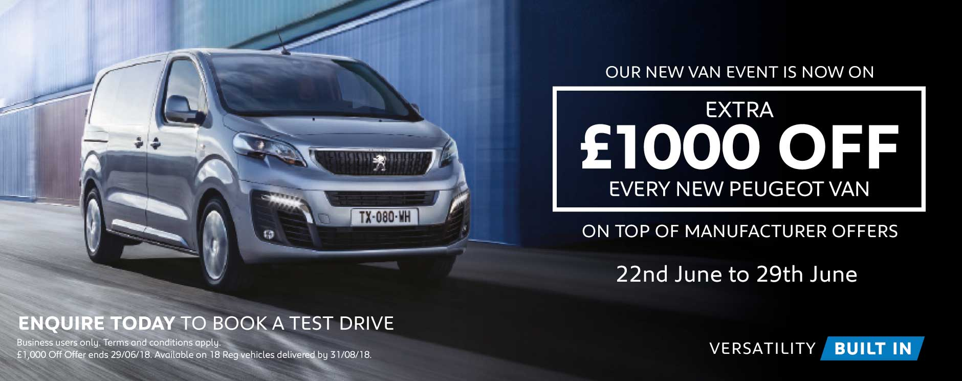 �1000 Off New Vans June 2018 - BSM Peugeot