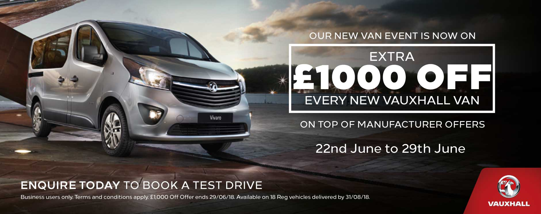 �1000 Off New Vans June 2018 - BSM Vauxhall