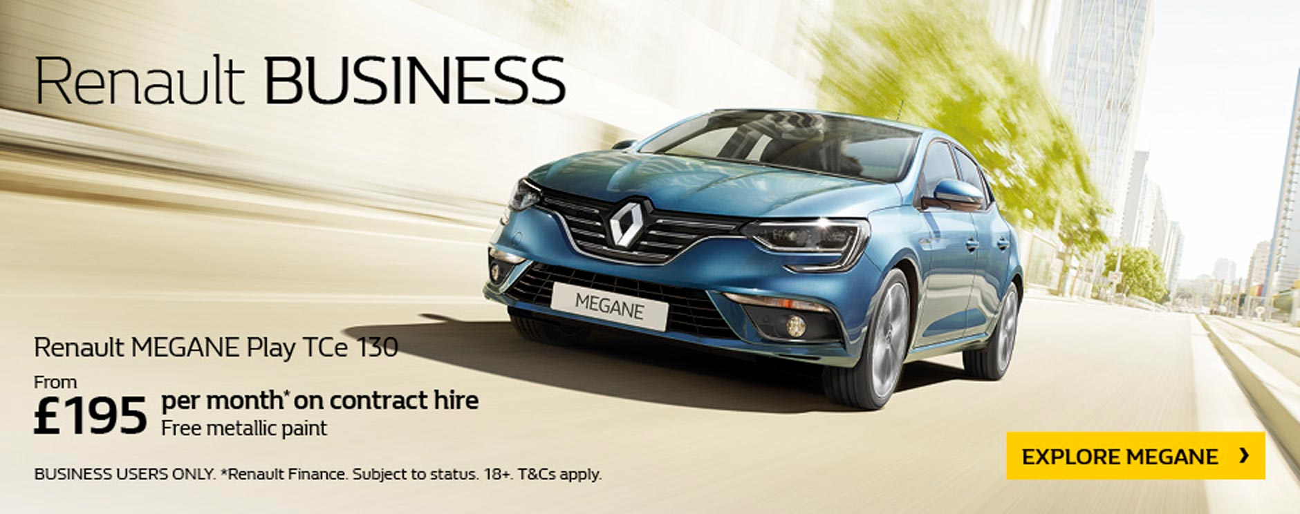 Renault Megan Business Hire bb
