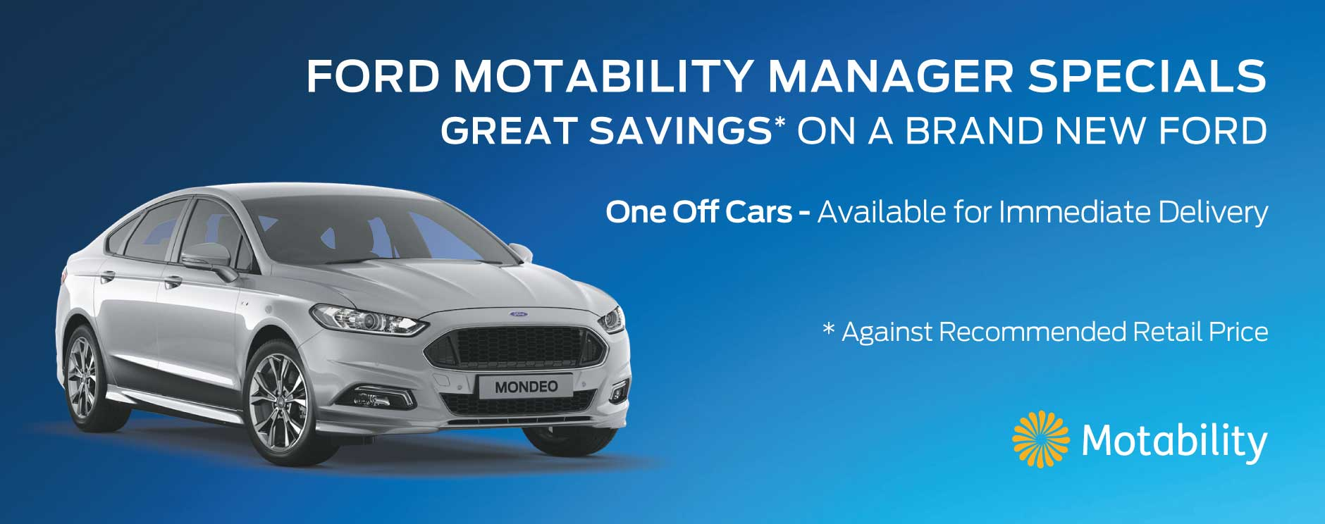 Ford Motability Manager Specials
