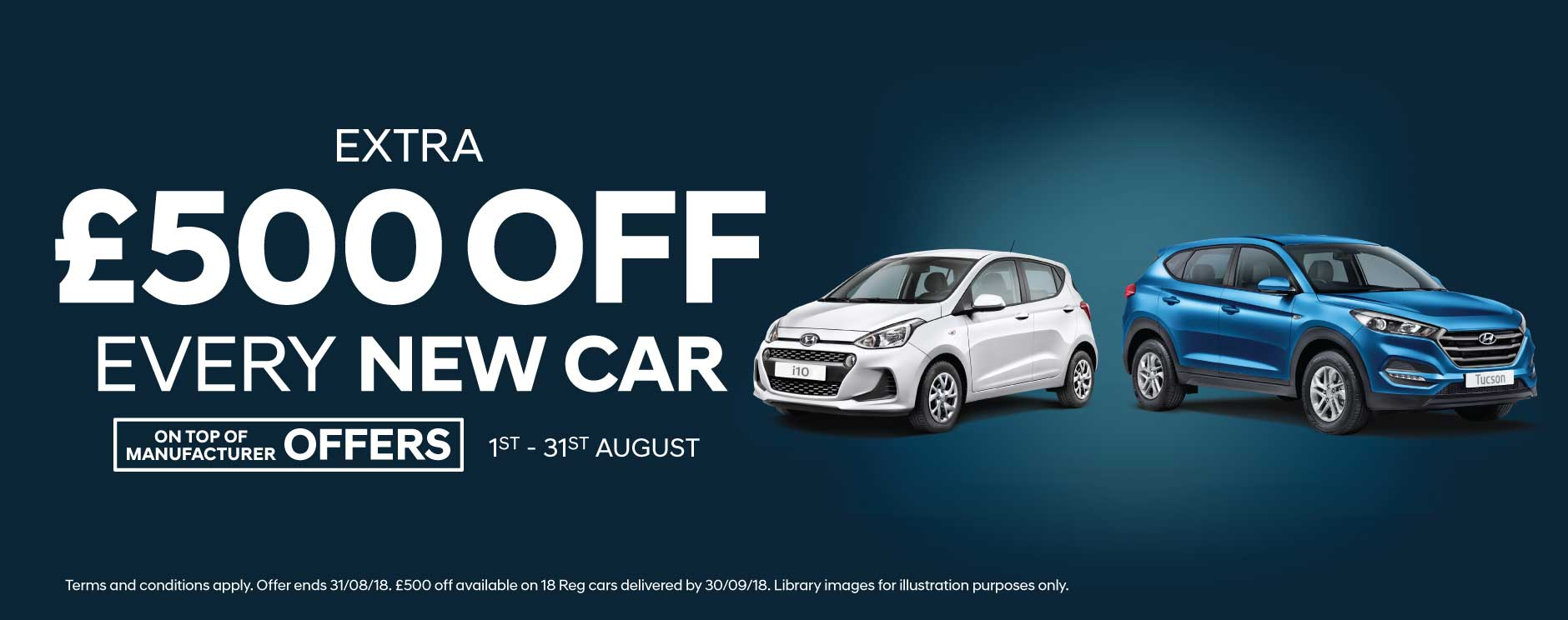�500 Off New Car August 2018 - Hyundai