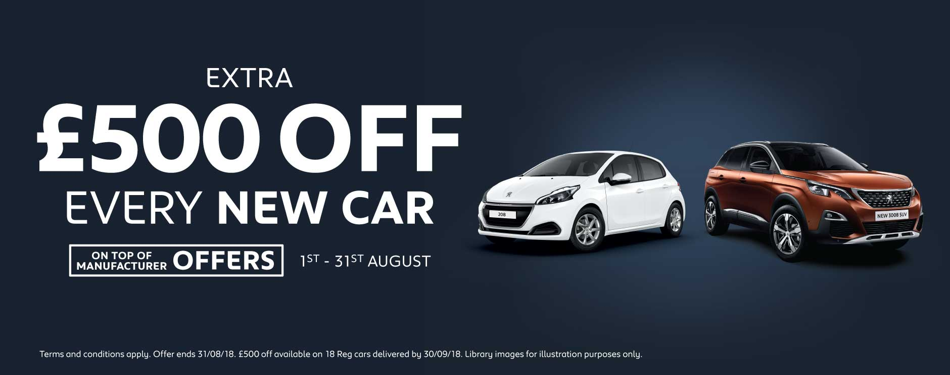 �500 Off New Car August 2018 - Peugeot