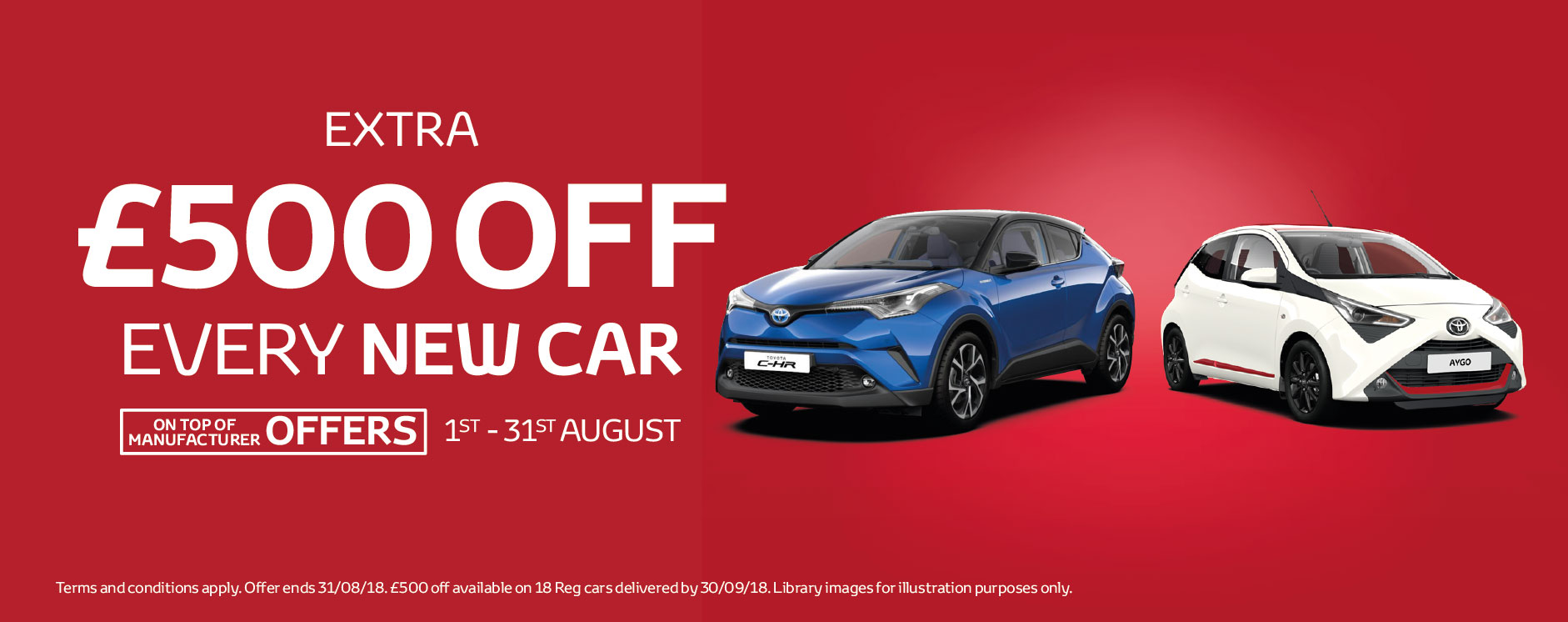 �500 Off New Car August 2018 - Toyota