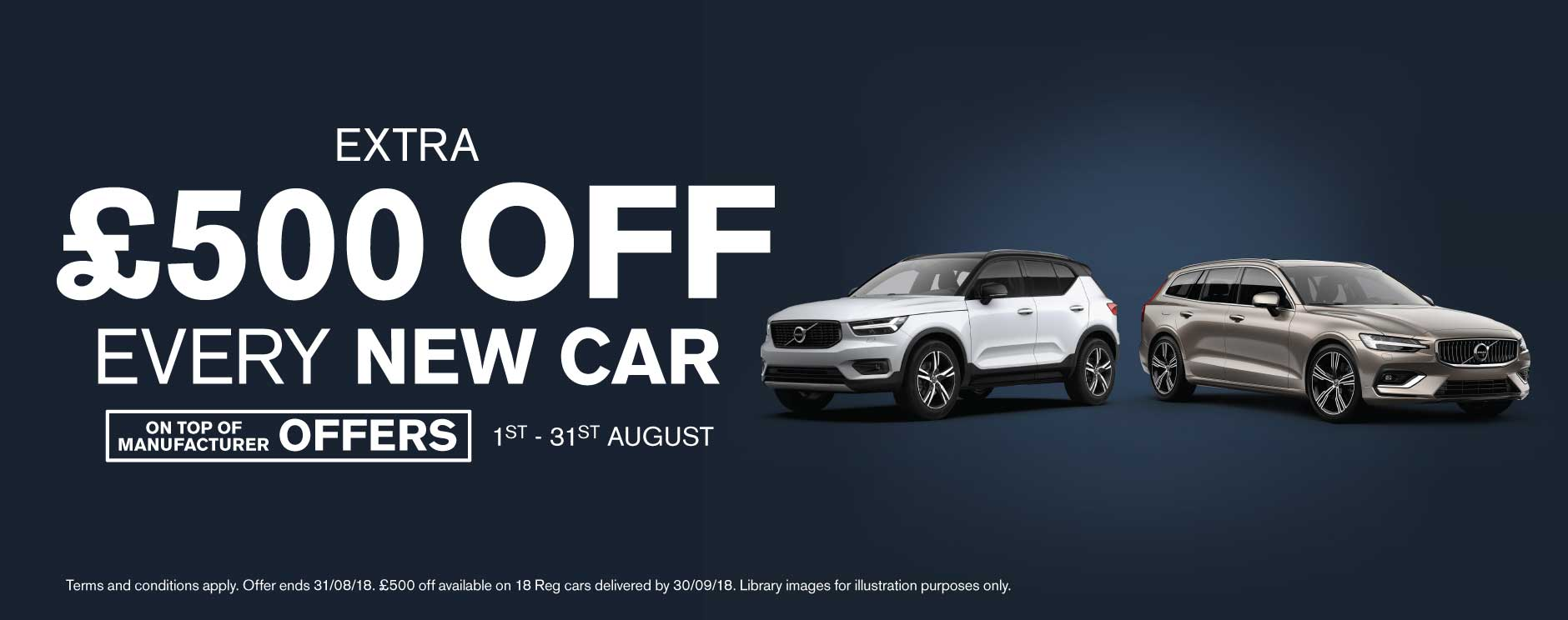 �500 Off New Car August 2018 - Volvo