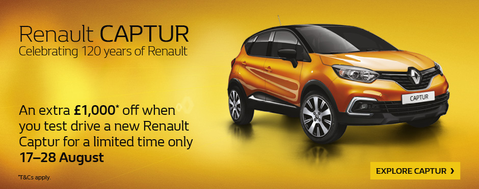 Renault Captur 120 years170818