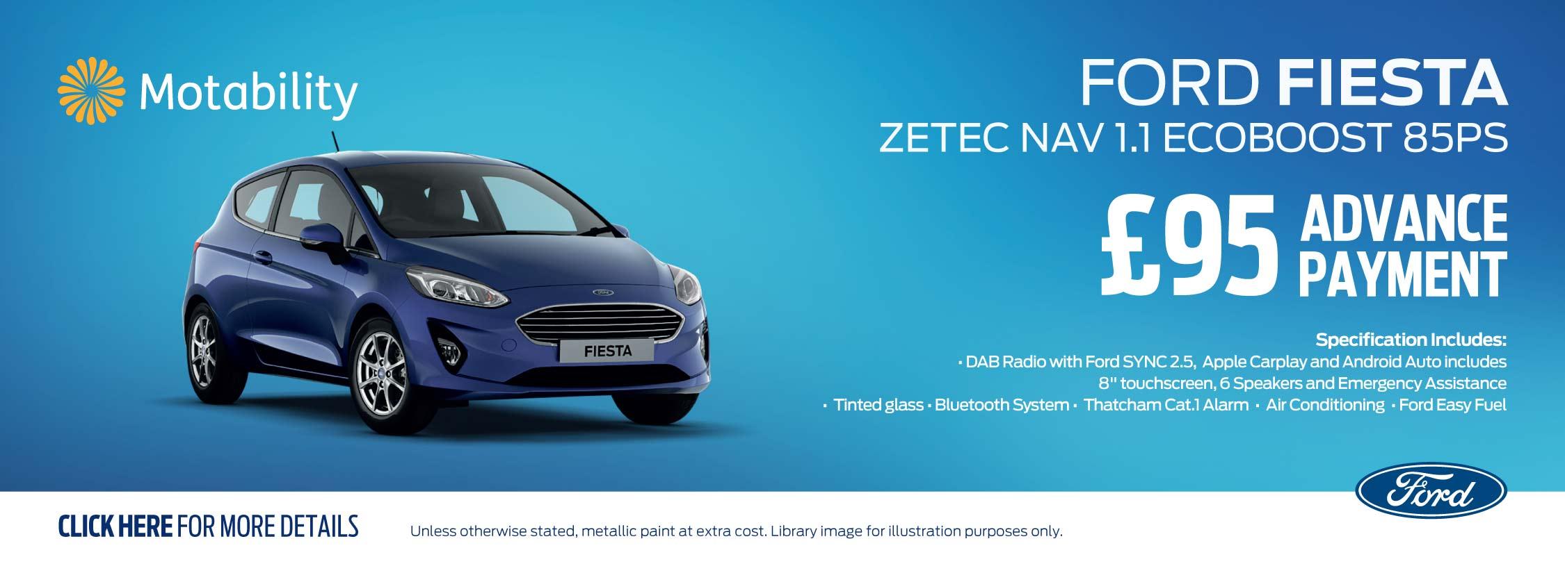 Ford Fiesta Zetec Nav 1.1 Ecoboost 85PS