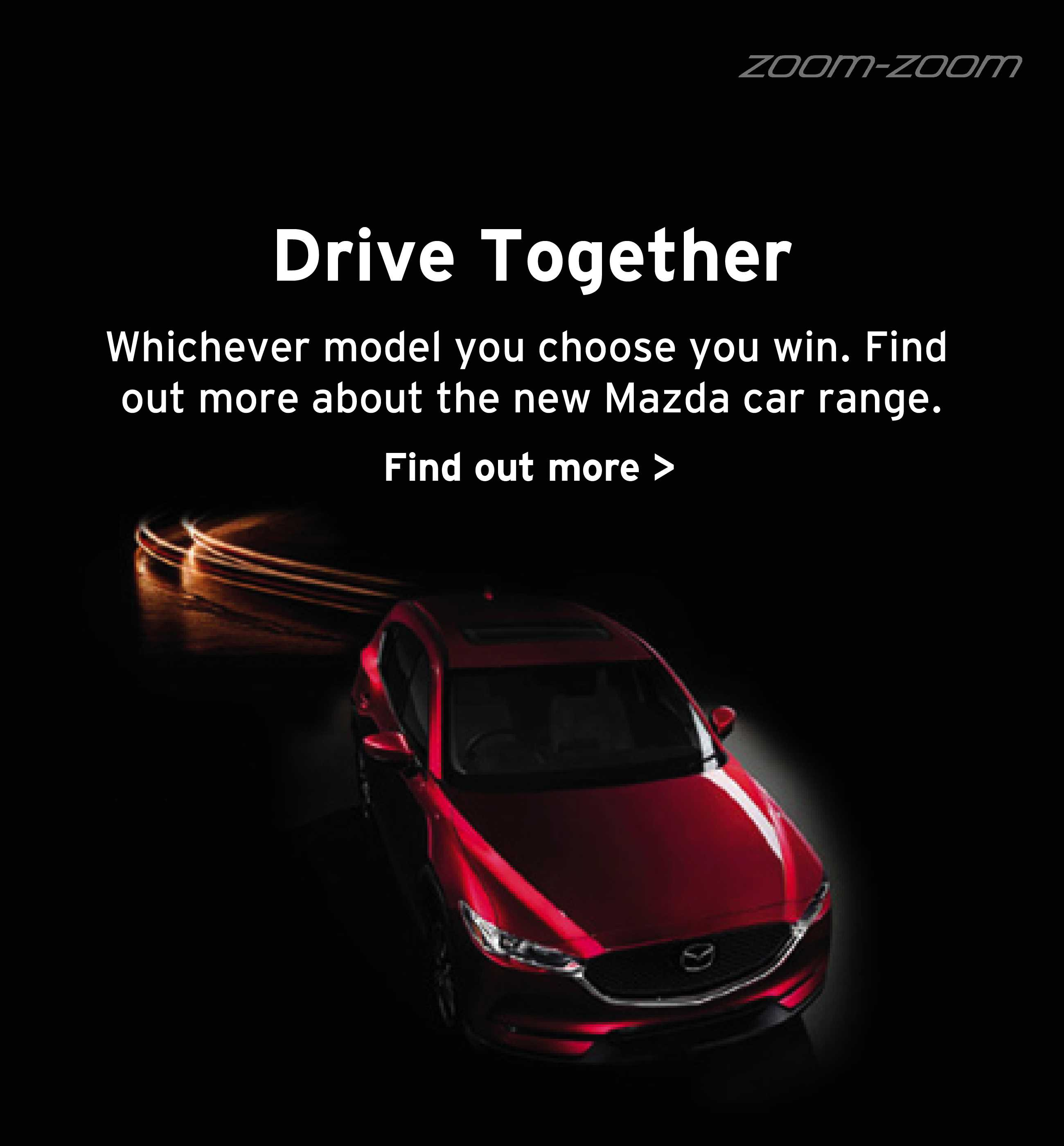 [Mazda Generic] Mazda Drive Together Banner 1