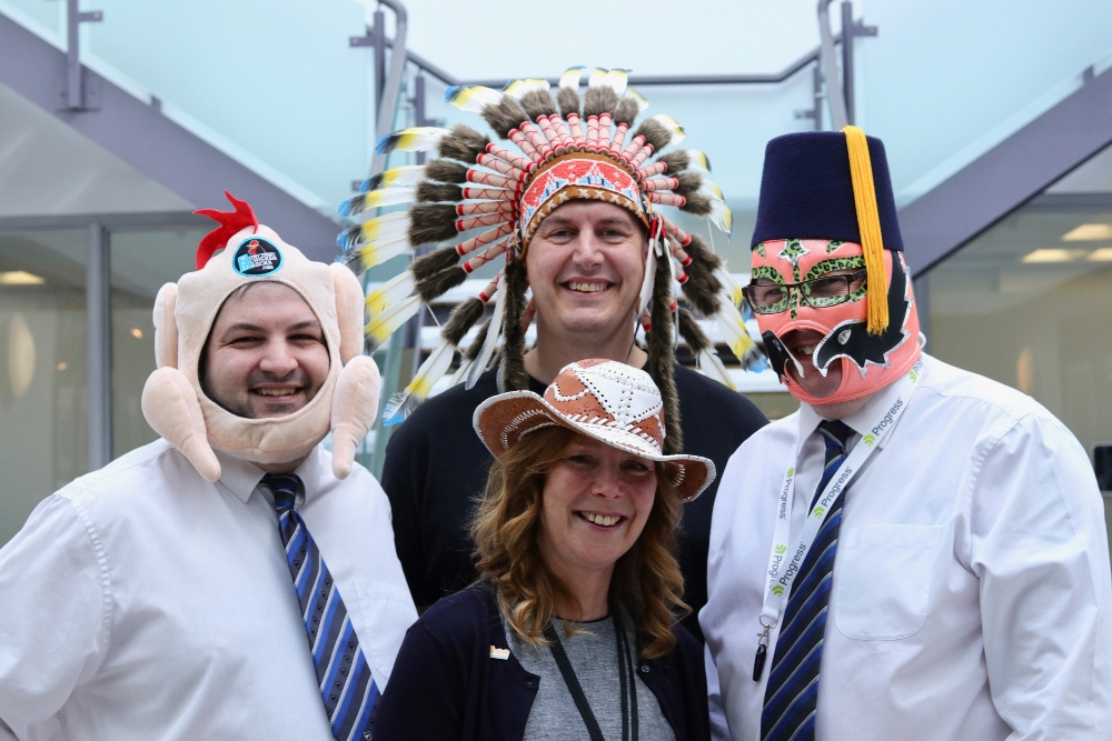 Colleagues at Vertu Motors get their hats on for automotive