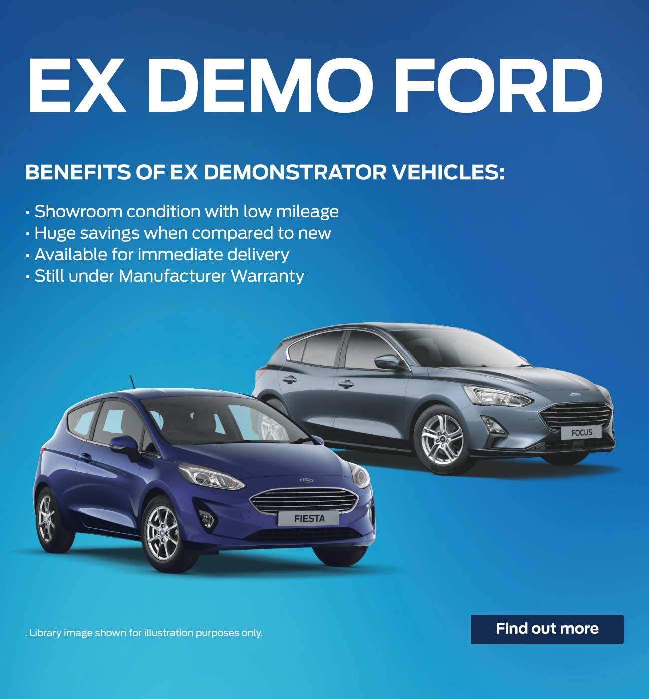Ex Demonstrator Ford cars for sale | Bristol Street Motors