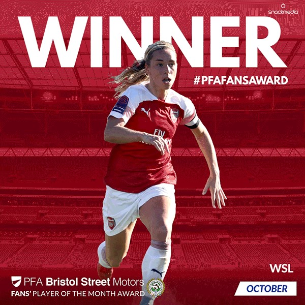 Women's PFA Bristol Street Motors Fans' Player of the Month Award October