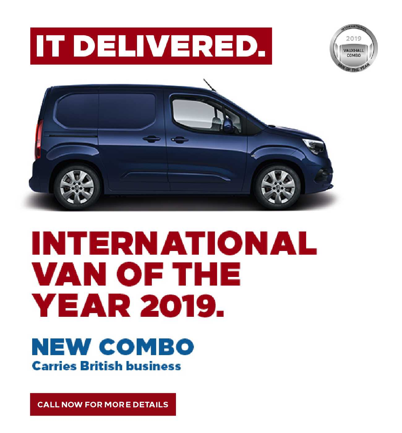Vauxhall commercial brand new combo BB