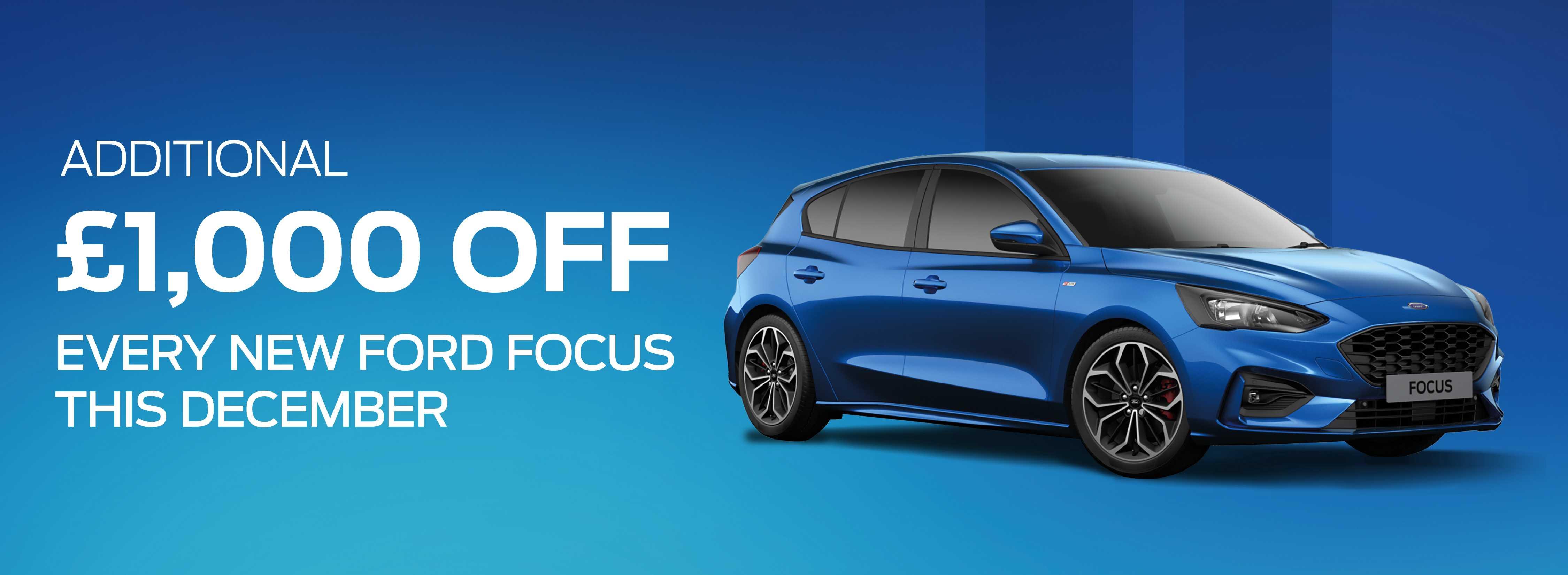 Ford Focus December Offer Banner