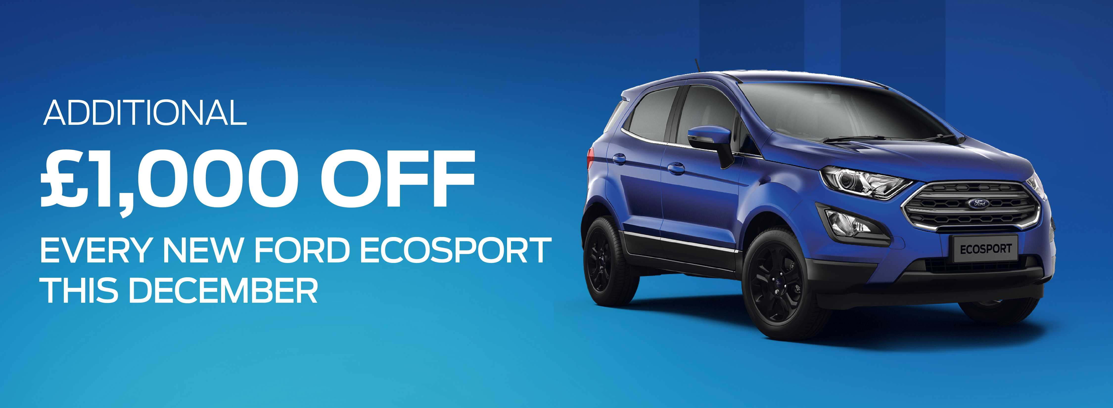 Ford EcoSport December Offer Banner