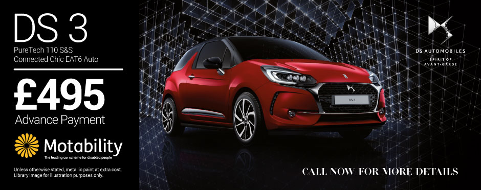 DS3 Puretech 110 S&S Connected Chic BB Motability