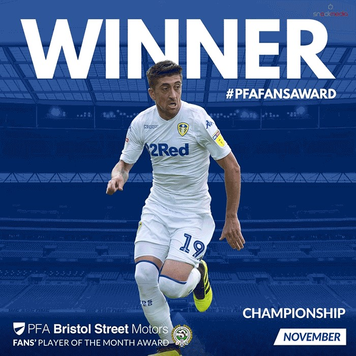 Championship PFA Bristol Street Motors Fan's Player of the Month for November