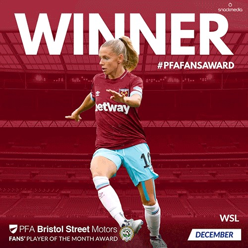 Hammer Simic Wins PFA Bristol Street Motors Fans' Womens' Player of the Month