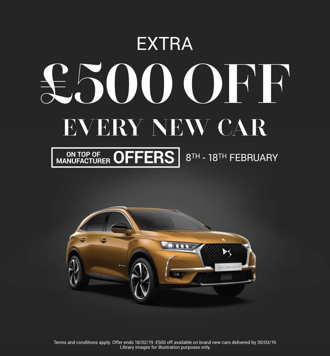 �500 Off New Car February 2019 - DS