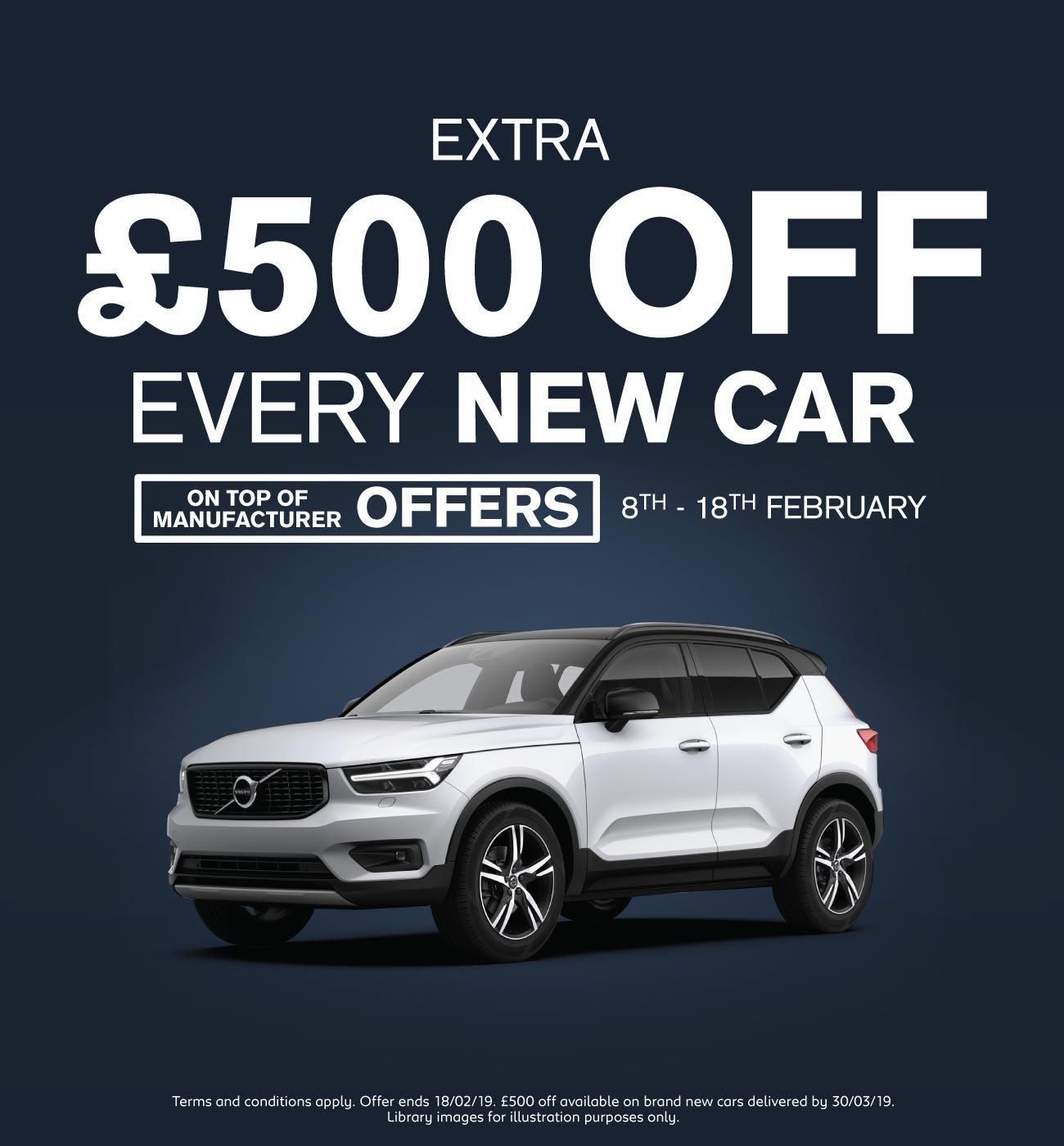 �500 Off New Car February 2019 - Volvo