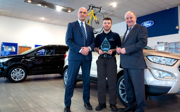 Tewkesbury MP visits 'Ford Apprentice of the Year'