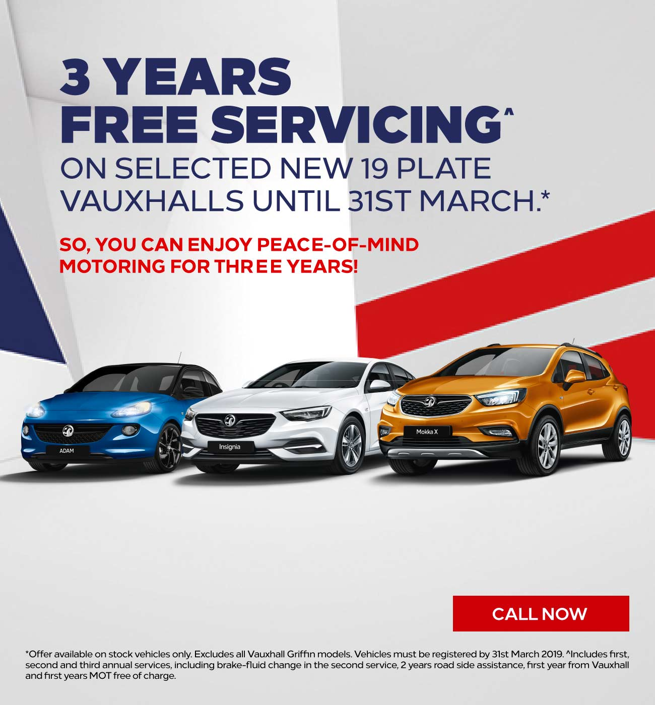 [Vauxhall Generic] Vauxhall 3 Years Free Servicing 180319 Banner 3