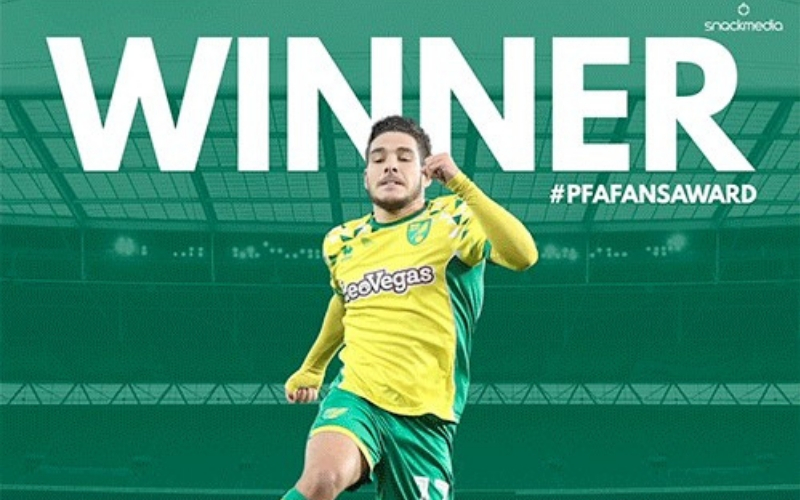 Norwich City�s Emiliano Buendia Wins Championship PFA BSM Fans� Player