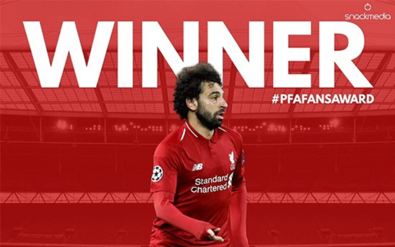 Liverpool's Salah Wins PFA Bristol Street Motors Fans' Player of The Month Award