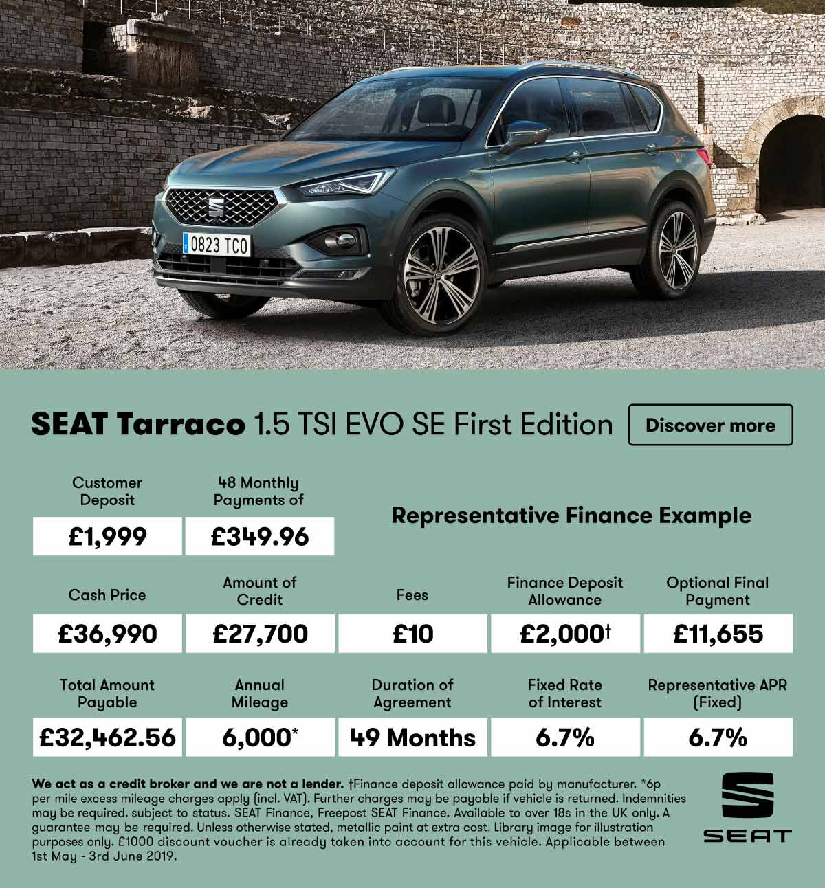 [SEAT Tarraco] SEAT Tarraco first edition 070519 Banner 1