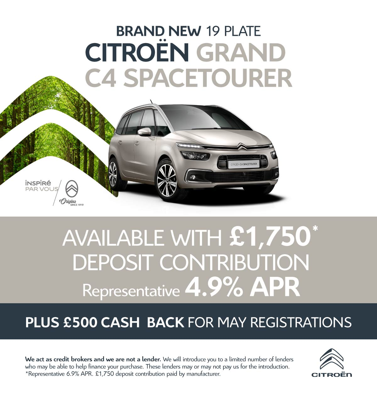 [Citroen Grand Spacetourer] �1750 Deposit 090519 Banner 1