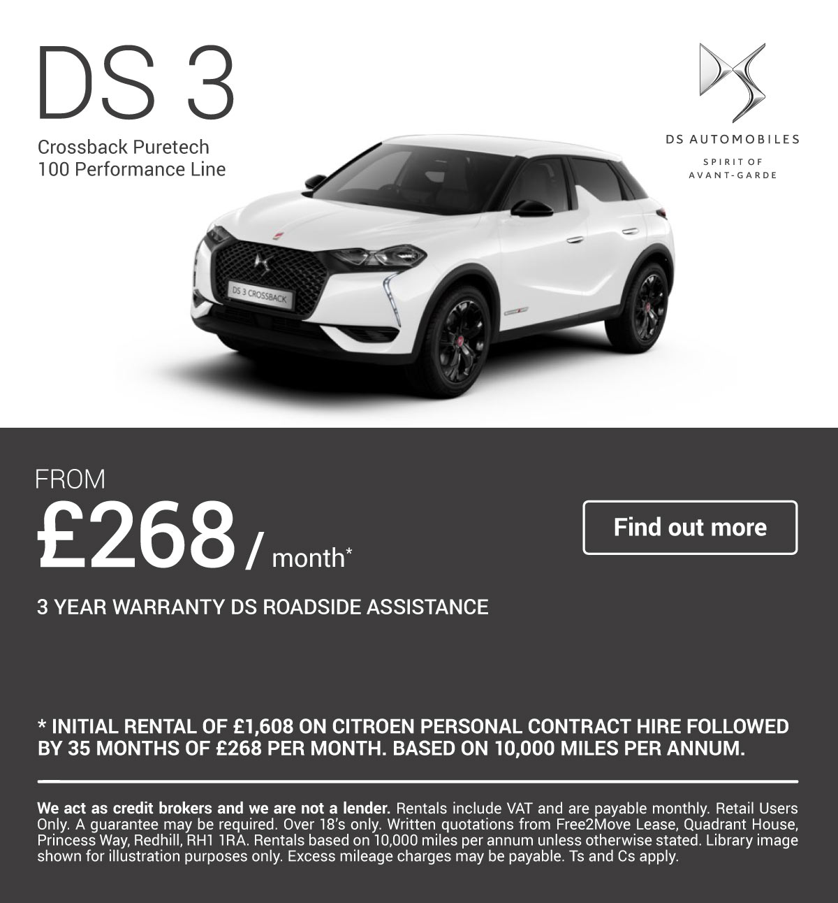 [DS 3] DS 3 Crossback Performance Line 130519 Banner 1