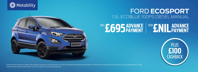 Ford EcoSport Motability Offers