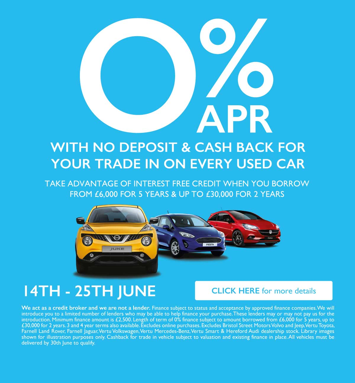 0% Used Car Event June 2019 - BSM Renault