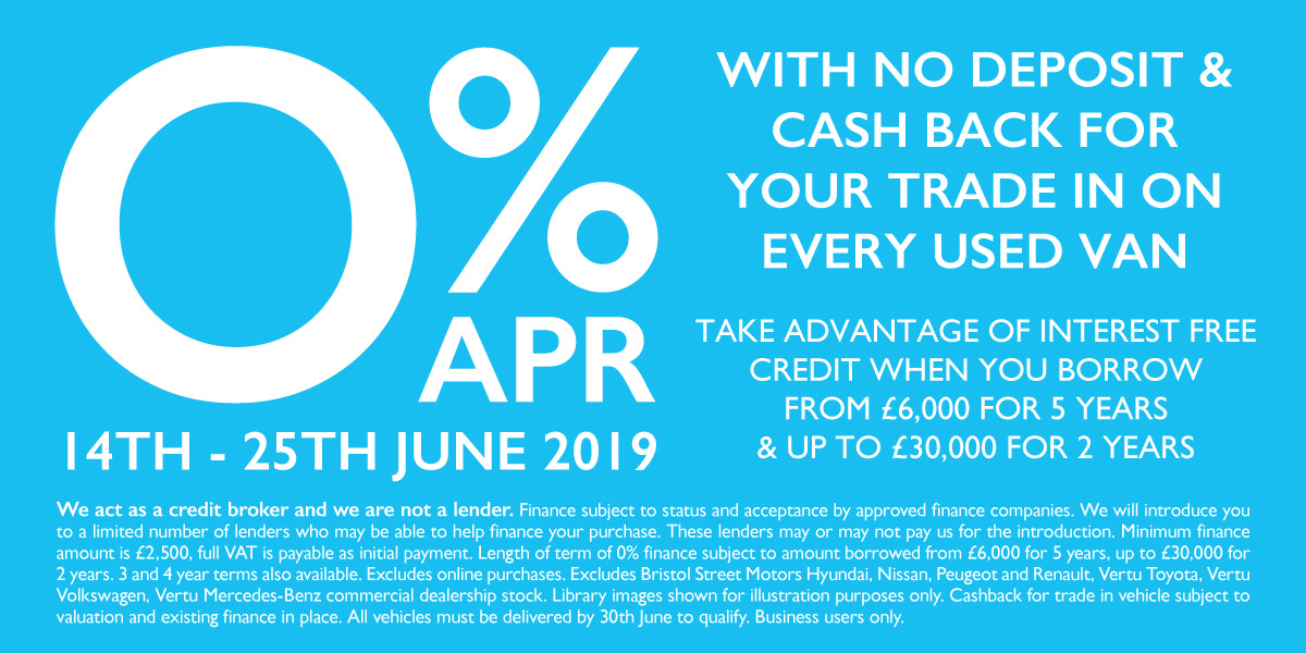 0% Used Van Event June 2019 - BSM