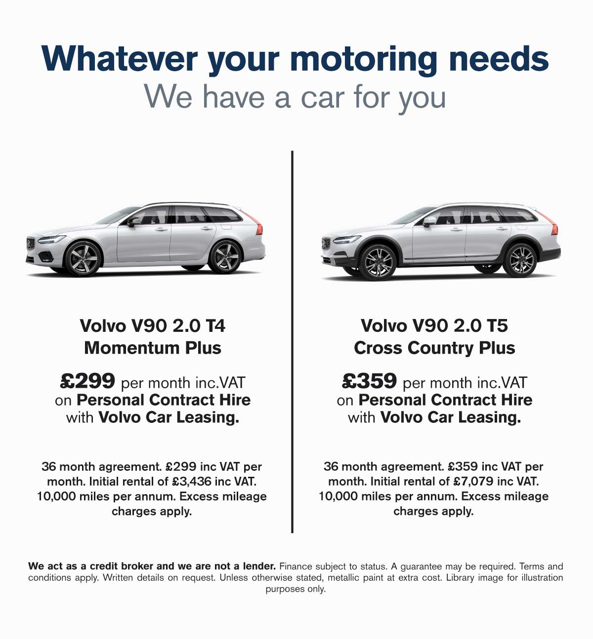 [Volvo V90] Volvo V90 Two Offers 080719 Banner 1