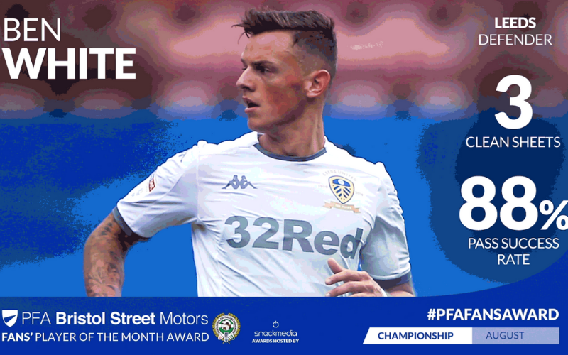 Leeds United's Ben White Wins Championship Fans' Player of The Month Award