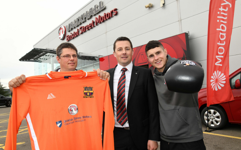 Back Of The Net Or In The Ring - BSM Vauxhall Newcastle Sponsors Local Sports
