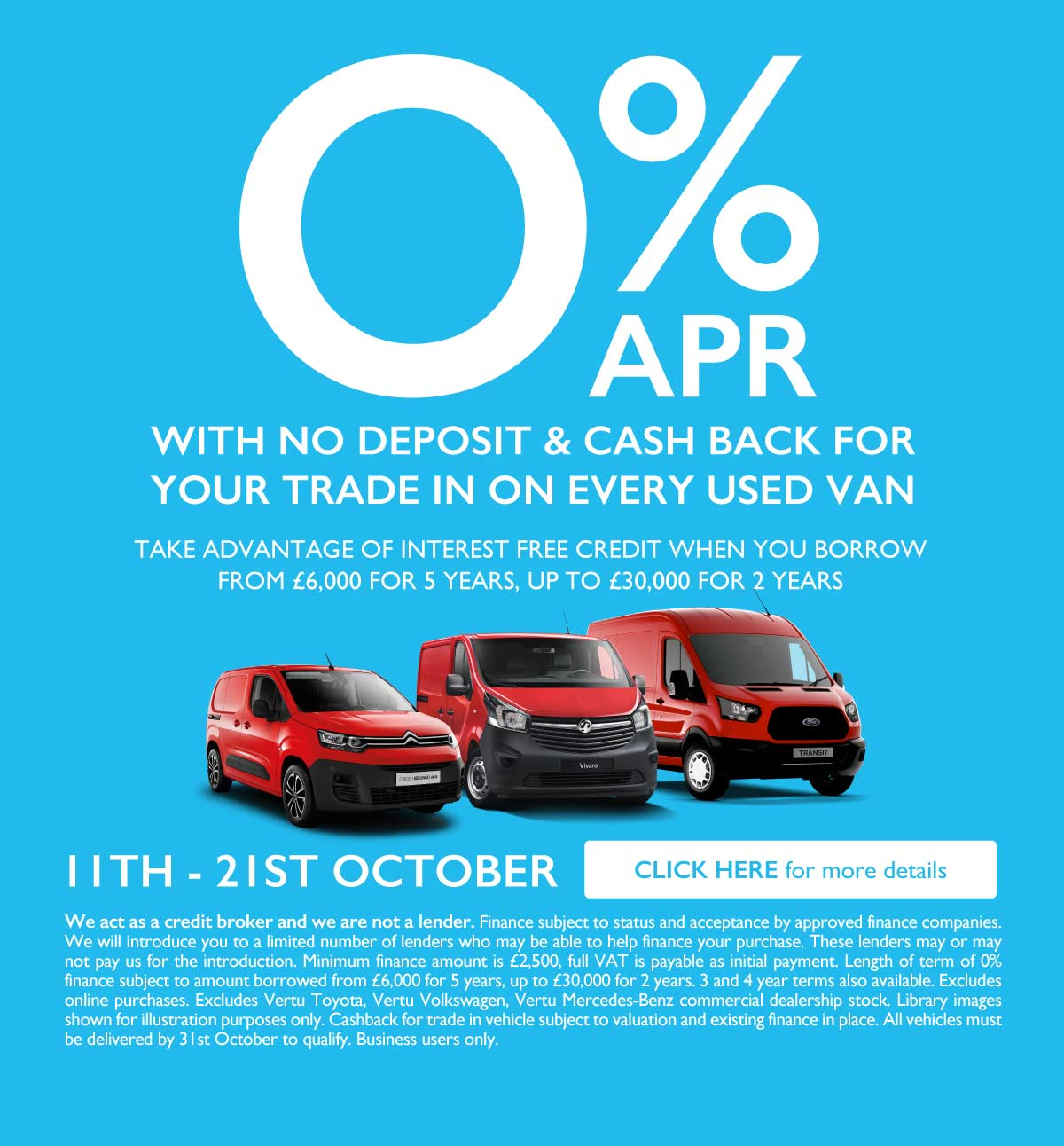 0% Used Car Event October 2019 - BSM Vans