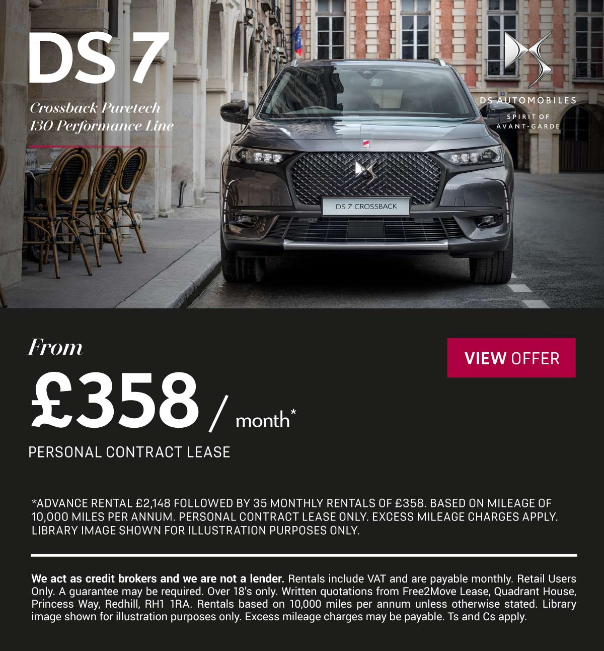 DS 7 CROSSBACK  PURETECH 130 PERFORMANCE LINE