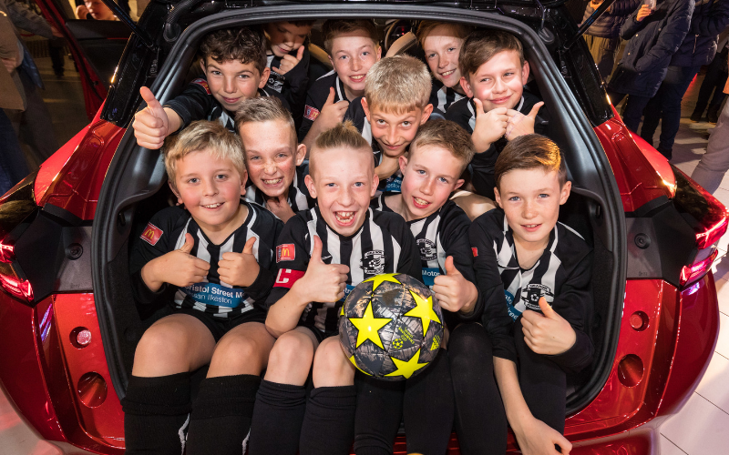 Bristol Street Motors Nissan Ilkeston Scores For Heanor Junior Footballers