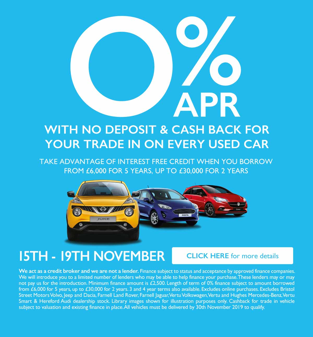 0% Used Car Event November 2019 - BSM MM