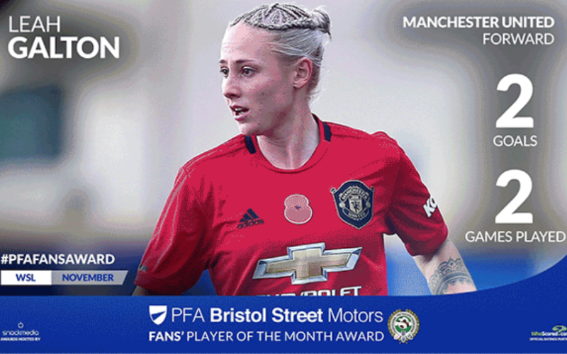 Manchester United's Leah Walton Wins Fans' Player of the Month Award