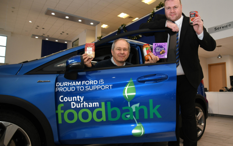 Bristol Street Motors Durham Gives Local Food Bank Support The Green Light